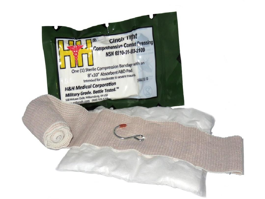 CT01 H & H, Emergency bandáže, Hrudní krytí, Obvazy....: H&H Cinch Tight Compression Dressing