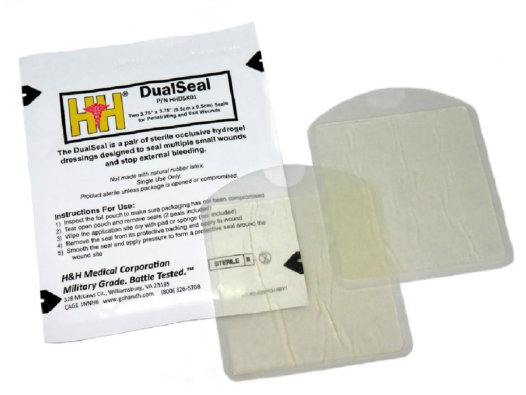 HHDSK01 obvazy a bandáže: H - H&H Chest Seal Two-Pack, DualSeal™